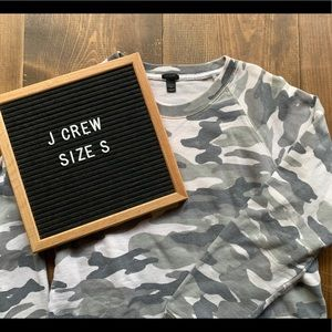 J. Crew Camouflage Pull-Over